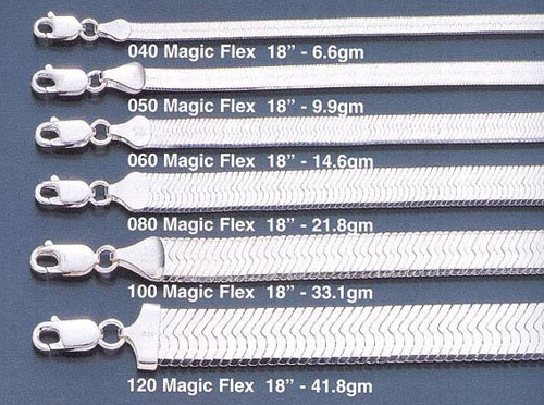 040 magic flex herringbone chain